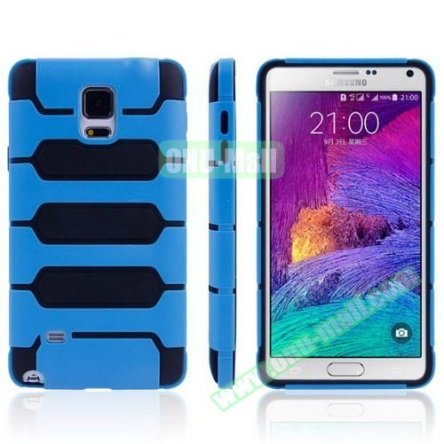 Tank Series PC + TPU Bumper Combination Case for Samsung Galaxy Note 4 (Blue)