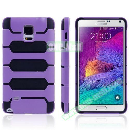Tank Series PC + TPU Bumper Combination Case for Samsung Galaxy Note 4 (Purple)