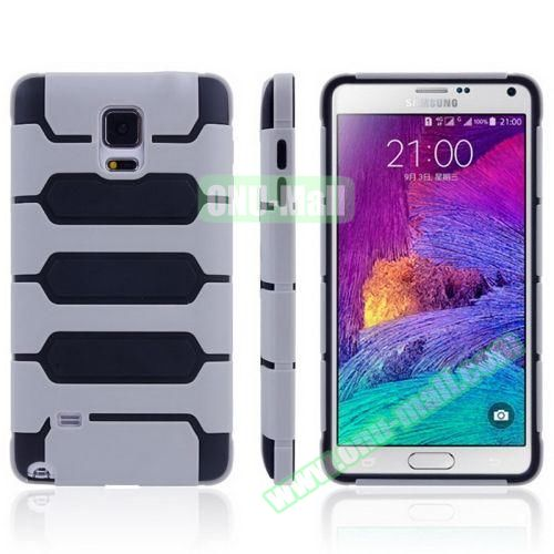 Tank Series PC + TPU Bumper Combination Case for Samsung Galaxy Note 4 (Grey)