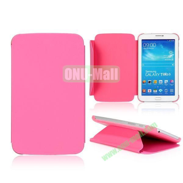 Cloth Texture Design Flip Stand PC+ Leather Case for Samsung Galaxy Tab 3 7.0  P3200 (Pink)