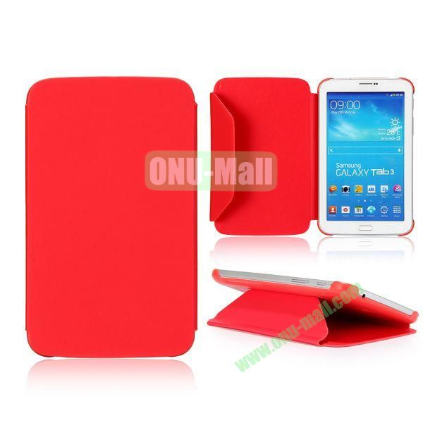 Cloth Texture Design Flip Stand PC+ Leather Case for Samsung Galaxy Tab 3 7.0  P3200 (Red)