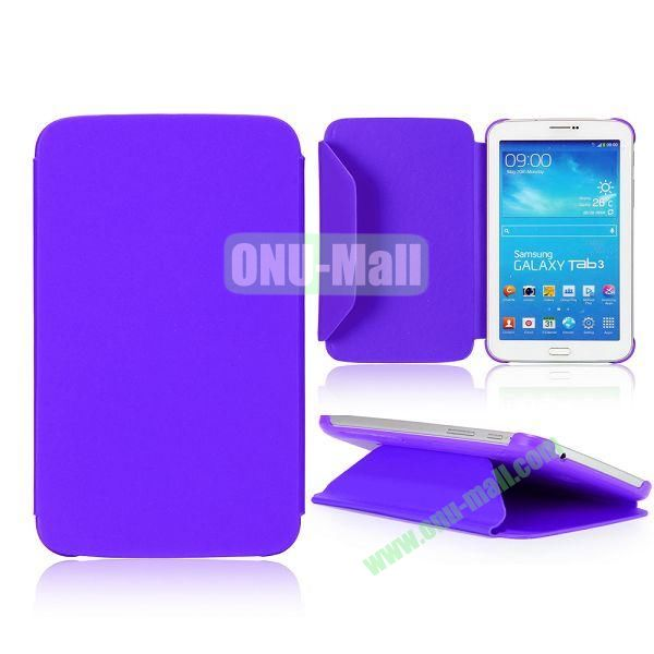 Cloth Texture Design Flip Stand PC+ Leather Case for Samsung Galaxy Tab 3 7.0  P3200 (Purple)