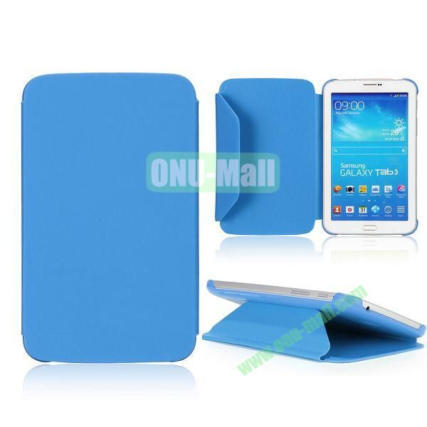 Cloth Texture Design Flip Stand PC+ Leather Case for Samsung Galaxy Tab 3 7.0  P3200 (Blue)
