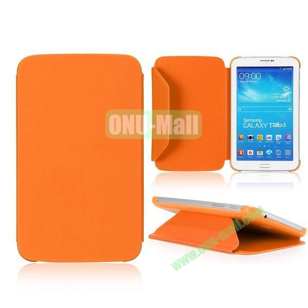 Cloth Texture Design Flip Stand PC+ Leather Case for Samsung Galaxy Tab 3 7.0  P3200 (Orange)