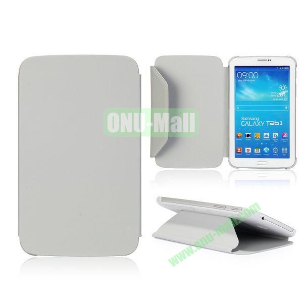 Cloth Texture Design Flip Stand PC+ Leather Case for Samsung Galaxy Tab 3 7.0  P3200 (Grey)