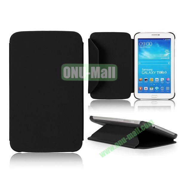 Cloth Texture Design Flip Stand PC+ Leather Case for Samsung Galaxy Tab 3 7.0  P3200 (Black)
