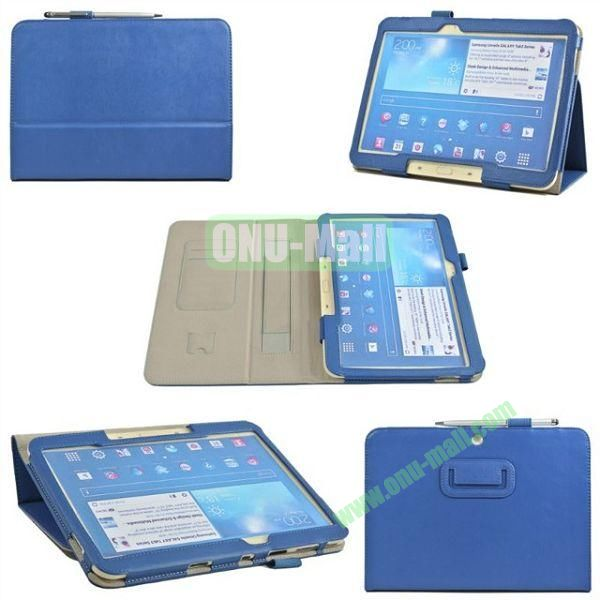 PU Leather Case Cover for Samsung GALAXY Tab 3(GT-P5200)with Card Slots and Pen Holder(Blue)