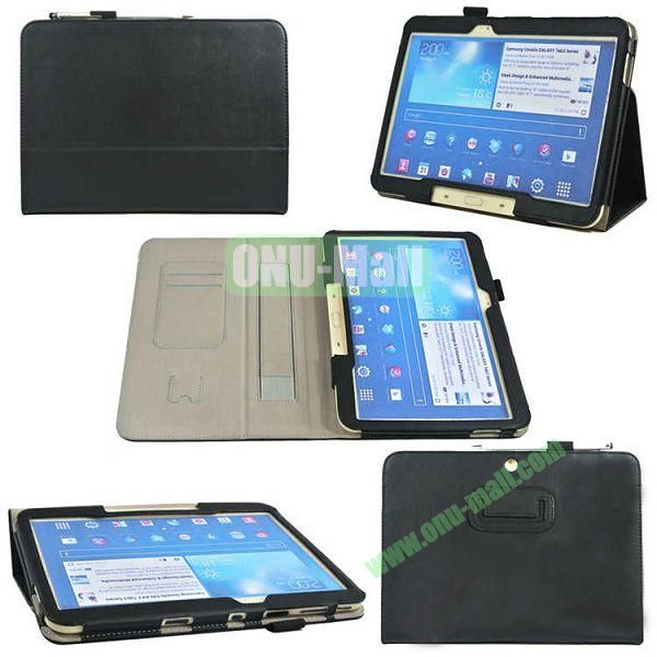 PU Leather Case Cover for Samsung GALAXY Tab 3(GT-P5200)with Card Slots and Pen Holder(Black)