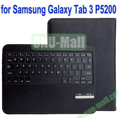 Removable Magnet Bluetooth 3.0 Keyboard Leather Case for Samsung Galaxy Tab 3P5200