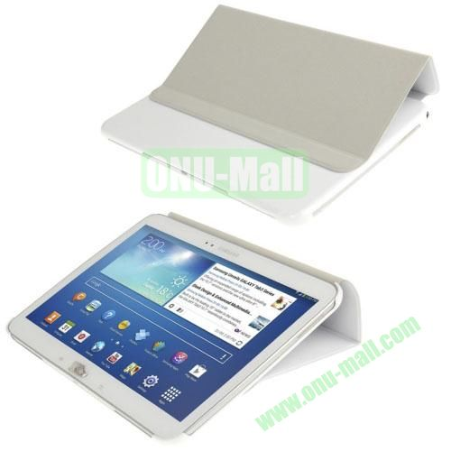 Cloth Texture Horizontal Flip Leather Case for Samsung Galaxy Tab 3 10.1 P5200P5210 with Holder (White)
