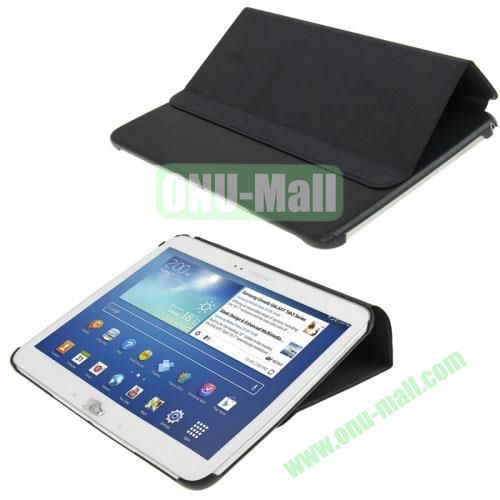 Cloth Texture Horizontal Flip Leather Case for Samsung Galaxy Tab 3 10.1 P5200P5210 with Holder (Black)