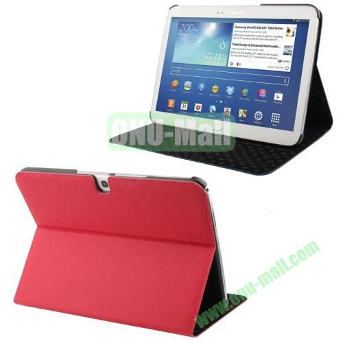 Linen Lines Leather Case for Samsung Galaxy Tab 10.1  P5200 (Red)