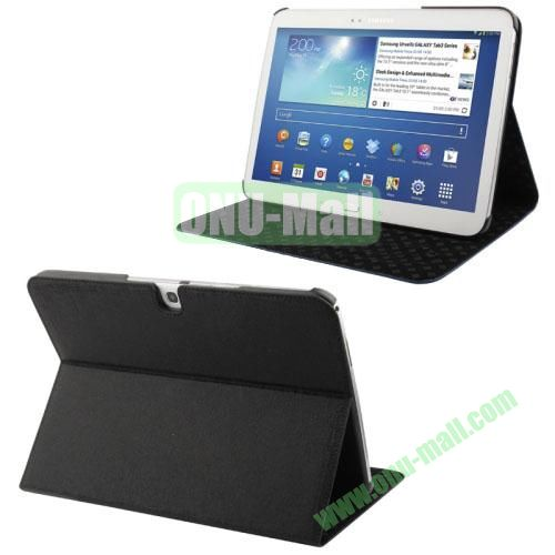 Linen Lines Leather Case for Samsung Galaxy Tab 10.1  P5200 (Black)