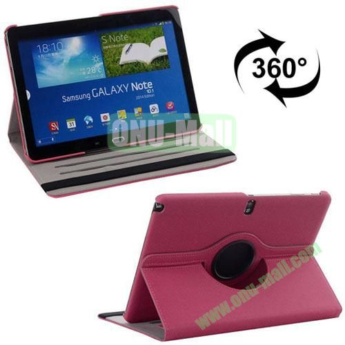 360 Rotating Style Fabric Texture Smart Cover for Samsung Galaxy Note 10.1 P600 with Armband and Stand (Pink)
