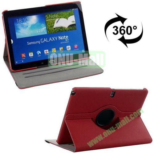 360 Rotating Style Fabric Texture Smart Cover for Samsung Galaxy Note 10.1 P600 with Armband and Stand (Magenta)