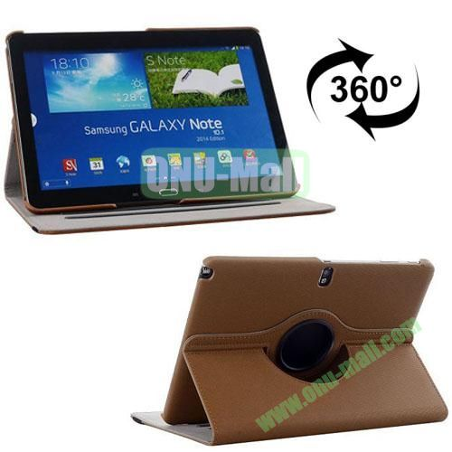 360 Rotating Style Fabric Texture Smart Cover for Samsung Galaxy Note 10.1 P600 with Armband and Stand (Brown)