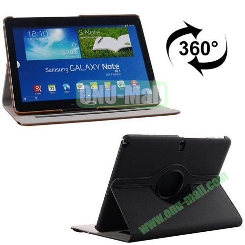 360 Rotating Style Fabric Texture Smart Cover for Samsung Galaxy Note 10.1 P600 with Armband and Stand (Black)