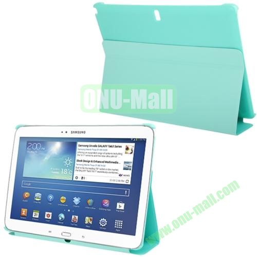 3-folding Litchi Texture PU Leather Case for Samsung Galaxy Note 10.1P600 2014 Edition with Holder (Baby Blue)