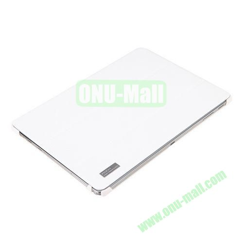 ROCK Elegant Series Three-folding Leather Cover for Samsung Galaxy Note 10.1 (2014 Edition)P600 (White)