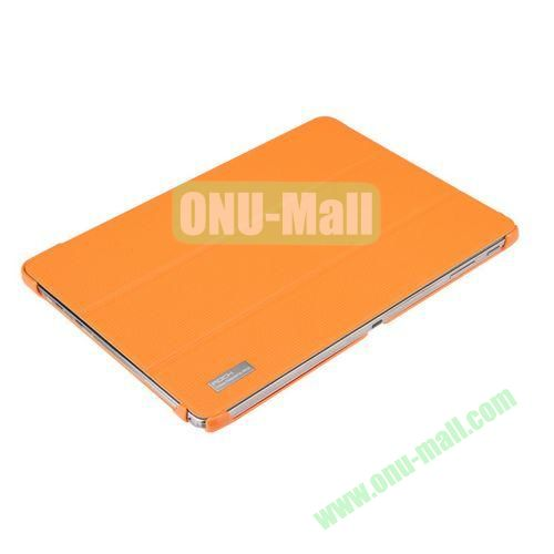 ROCK Elegant Series Three-folding Leather Cover for Samsung Galaxy Note 10.1 (2014 Edition)P600 (Orange)
