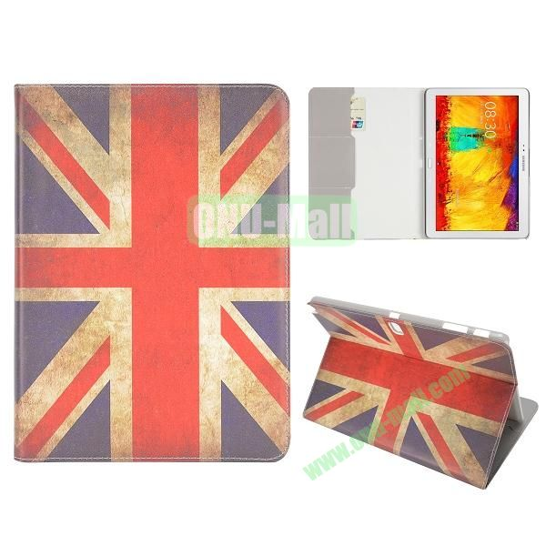 Flip Leather Case for Samsung Galaxy Note 10.1 2014 Edition P600 (Retro UK Flag Pattern)