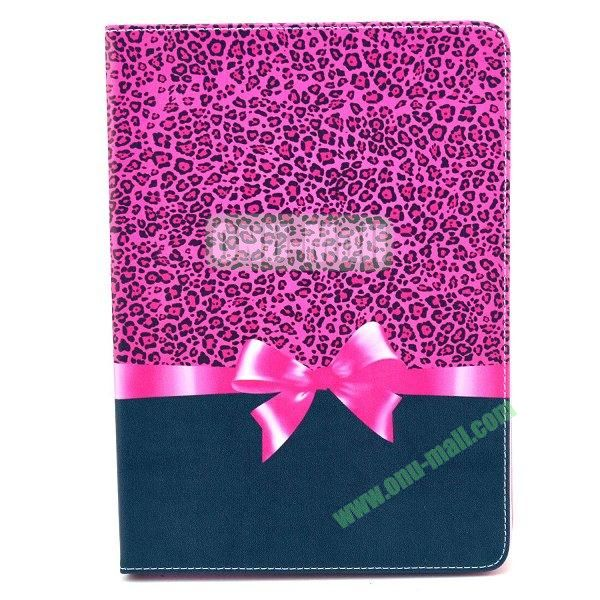 Flip PU Leather Case for Samsung Galaxy Note 10.1 2014 Edition P600 (Rose Bowknot)