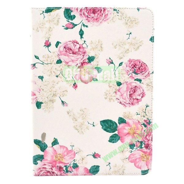 Flip PU Leather Case for Samsung Galaxy Note 10.1 2014 Edition P600 (Pink Rose)