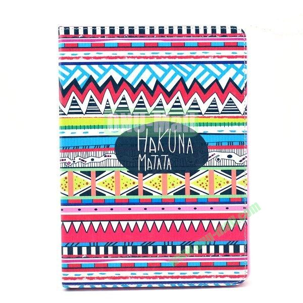 Flip PU Leather Case for Samsung Galaxy Note 10.1 2014 Edition P600 (Tribal)