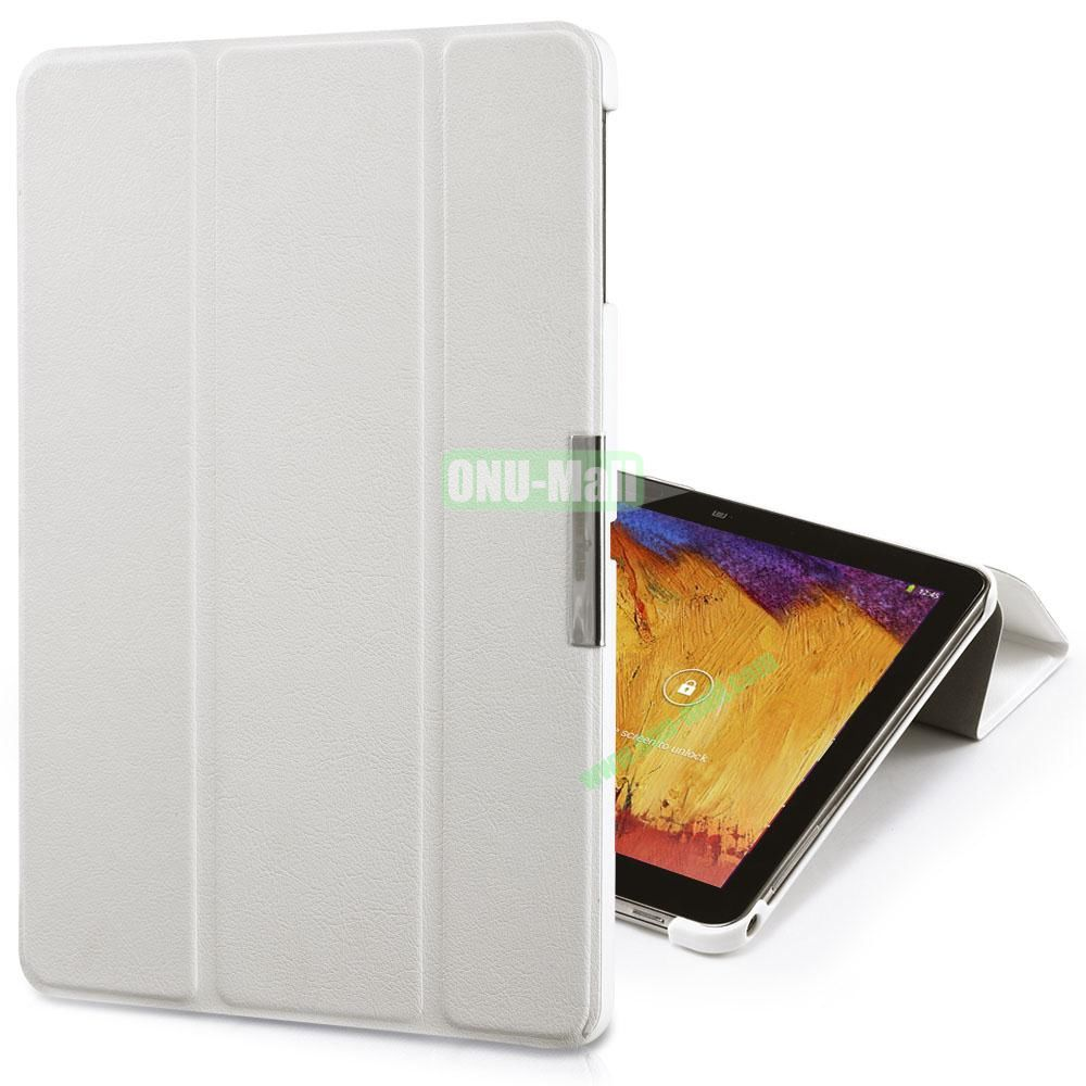 TakeFans Charm Series Magnetic Flip Leather Cover for Samsung Galaxy Note 10.1 2014 Edition (White)