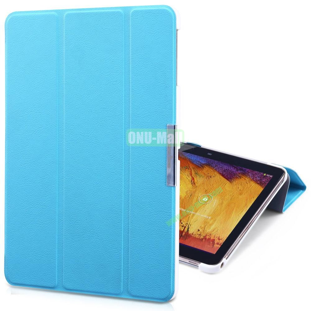 TakeFans Charm Series Magnetic Flip Leather Cover for Samsung Galaxy Note 10.1 2014 Edition (Blue)