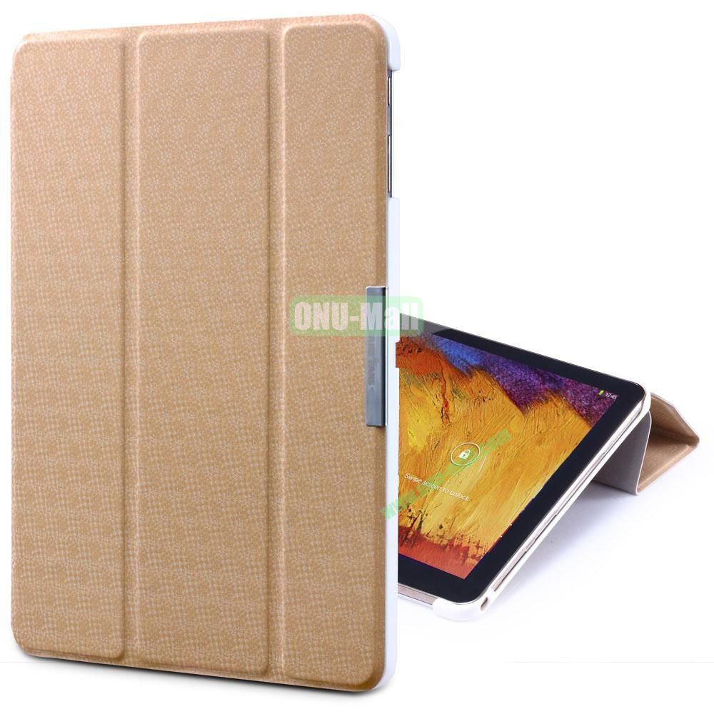 TakeFans Charm Series Magnetic Flip Leather Cover for Samsung Galaxy Note 10.1 2014 Edition (Gold)