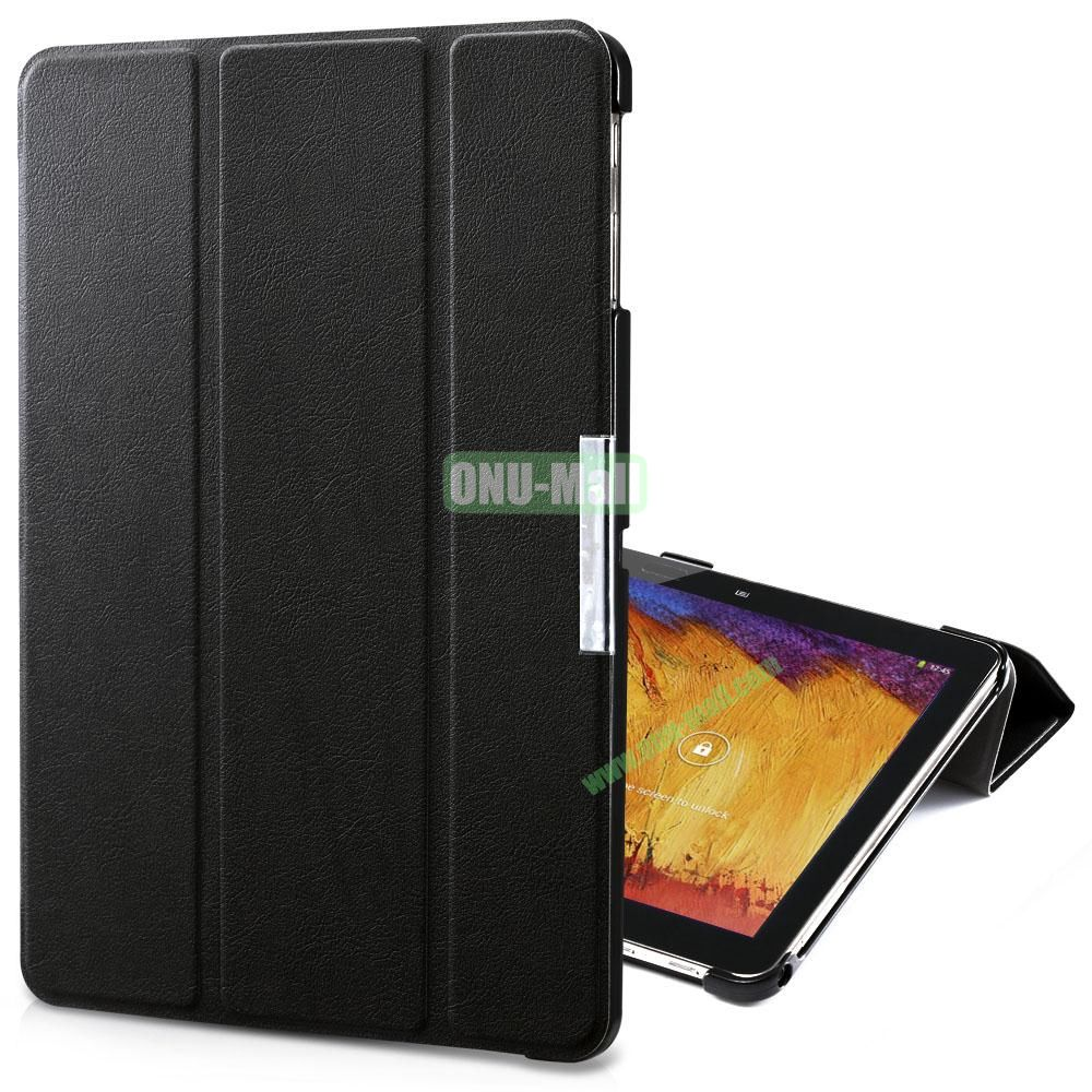 TakeFans Charm Series Magnetic Flip Leather Cover for Samsung Galaxy Note 10.1 2014 Edition (Black)