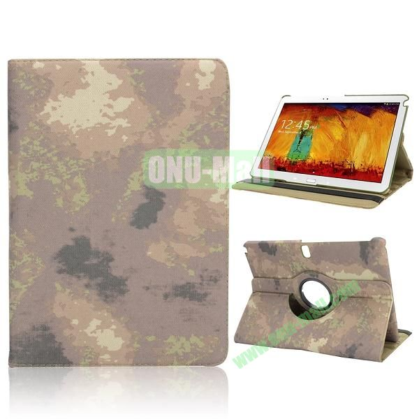 Special Camouflage Pattern 360 Rotating Flip Cloth Texture Case for Samsung Galaxy Note 10.1 2014 Edition P600 (Grey)