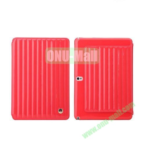 8th Days Jessie Melody Series  Leather Stand Cover for Samsung Galaxy Note 10.1 2014 Edition P600 ( Red )