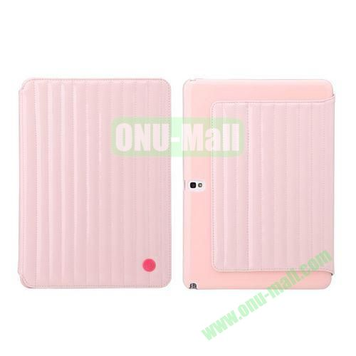 8th Days Jessie Melody Series  Leather Stand Cover for Samsung Galaxy Note 10.1 2014 Edition P600 ( Pink )