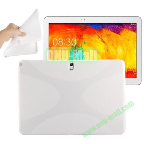 X Shape Twisted Anti-skid TPU Case for Samsung Galaxy Tab Note 10.1 2014 Edition P600 ( White )