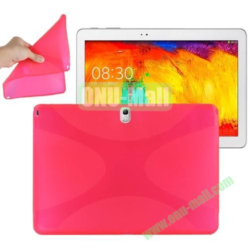 X Shape Twisted Anti-skid TPU Case for Samsung Galaxy Tab Note 10.1 2014 Edition P600 ( Rose )