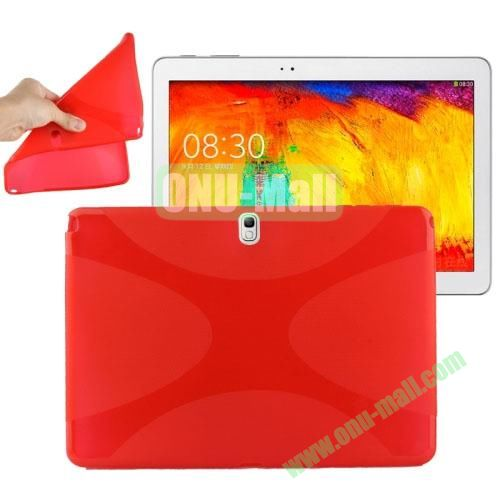 X Shape Twisted Anti-skid TPU Case for Samsung Galaxy Tab Note 10.1 2014 Edition P600 ( Red )