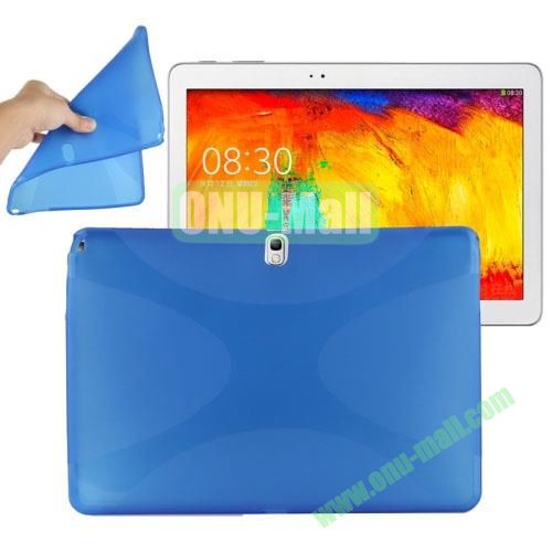 X Shape Twisted Anti-skid TPU Case for Samsung Galaxy Tab Note 10.1 2014 Edition P600 ( Blue )