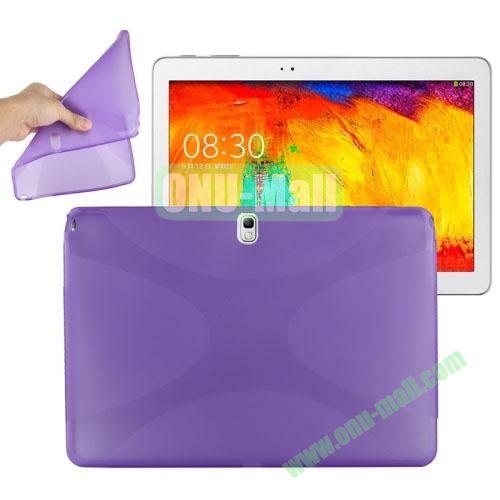 X Shape Twisted Anti-skid TPU Case for Samsung Galaxy Tab Note 10.1 2014 Edition P600 ( Purple )