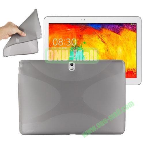 X Shape Twisted Anti-skid TPU Case for Samsung Galaxy Tab Note 10.1 2014 Edition P600 ( Grey )