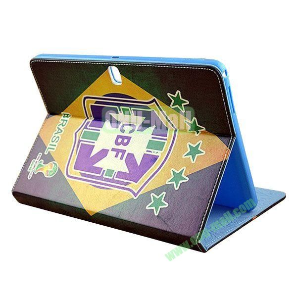 2014 FIFA World Cup Pattern TPU + PU Leather Case for Samsung P600 Galaxy Tab 10.1 Edition (CBF)