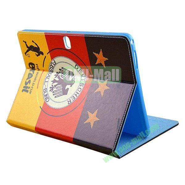 2014 FIFA World Cup Pattern TPU + PU Leather Case for Samsung P600 Galaxy Tab 10.1 Edition (Deutscher)