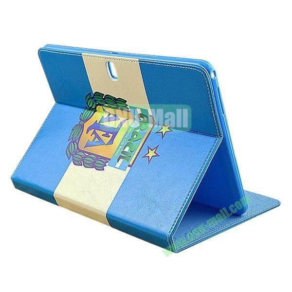2014 FIFA World Cup Pattern TPU + PU Leather Case for Samsung P600 Galaxy Tab 10.1 Edition (AFA)