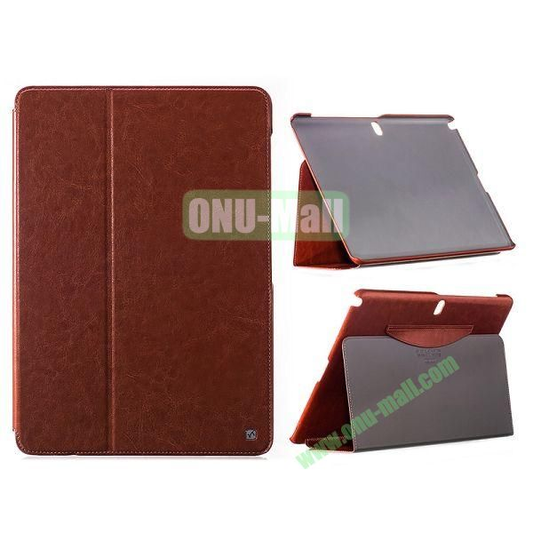 HOCO Crystal Series Crazy Horse Flip Stand Leather Case for Samsung Galaxy Note Pro 12.2  P900 (Brown)