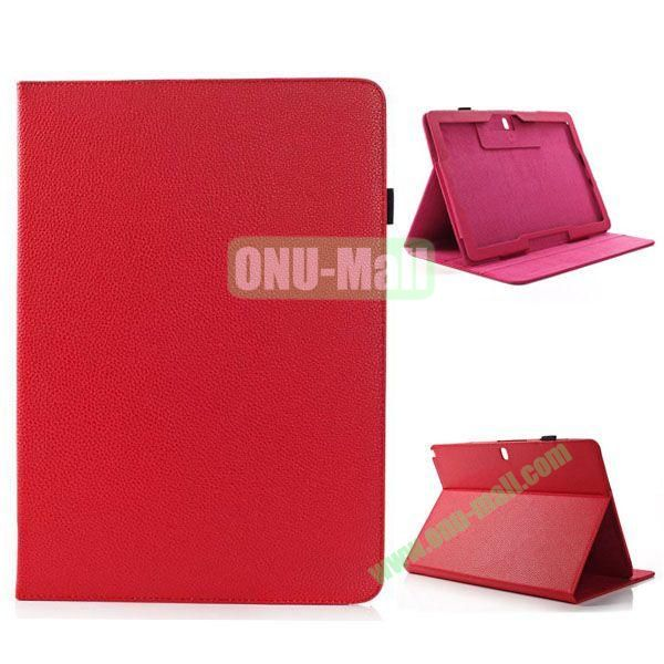 Litchi Texture Functional Leather Smart Cover for Samsung Galaxy Note Pro 12.2 P900 with Stand (Red)