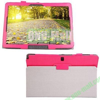 Crazy Horse Texture Leather Case for Samsung Galaxy Note Pro 12.2P900 with Holder (Rose)