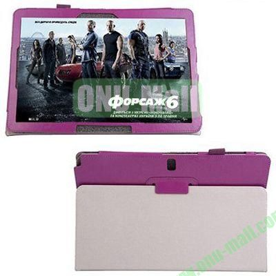 Crazy Horse Texture Leather Case for Samsung Galaxy Note Pro 12.2P900 with Holder (Purple)