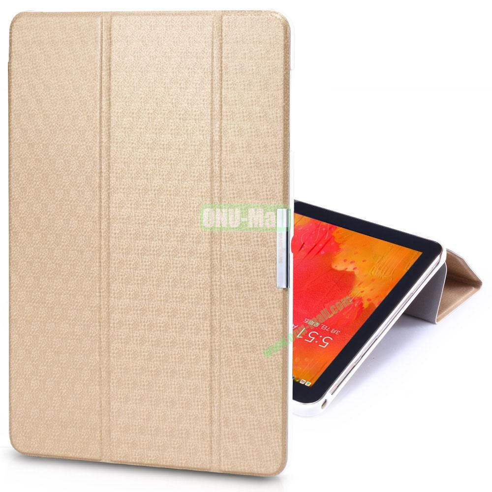 TakeFans Charm Series Stand Leather Cover for Samsung Galaxy Note Pro 12.2 P900 (Gold)