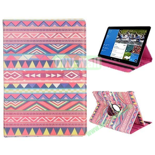 360 Degree Rotation Tribe Pattern PC + Leather Case with 3 Gears for Samsung Galaxy Note Pro 12.2  P900